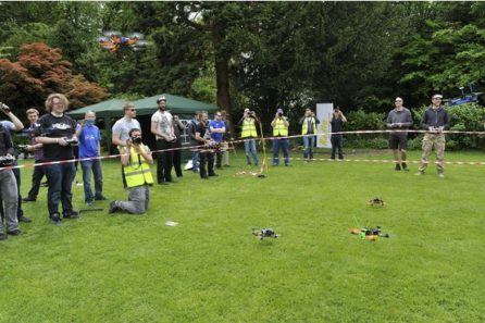 CCRfb240515CDrone flying race at Wealdon House. A lot of participants will be there to fly, race and compete against each other in the skies. We want pictures of the racers, their drones, drones in the air and people showing off their skills.Photograph