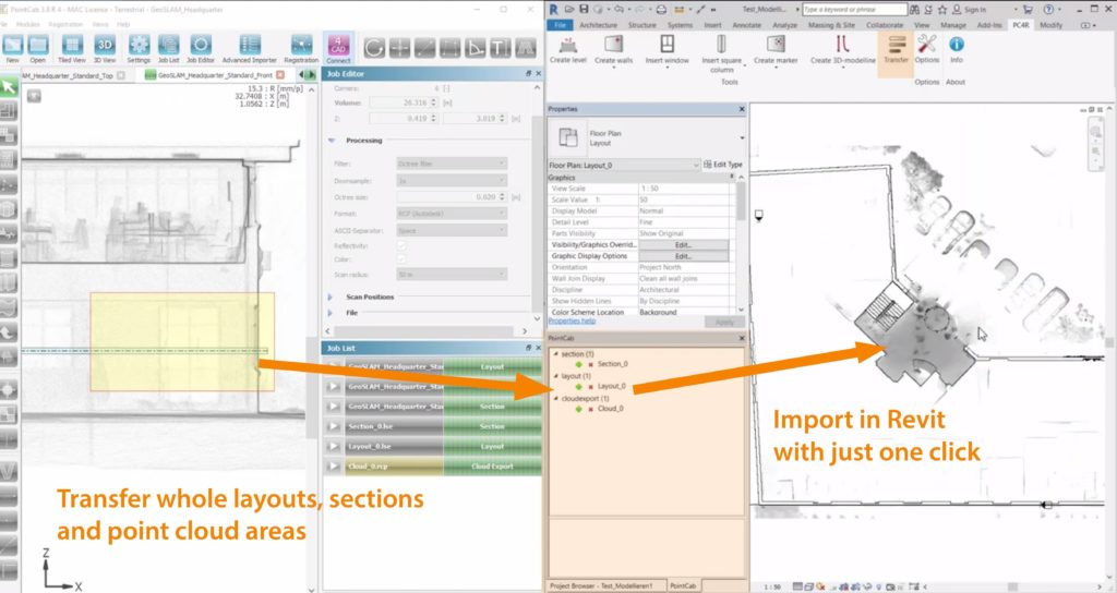 PointCab 4Revit 1.2 – nové propojení s Autodesk Revit