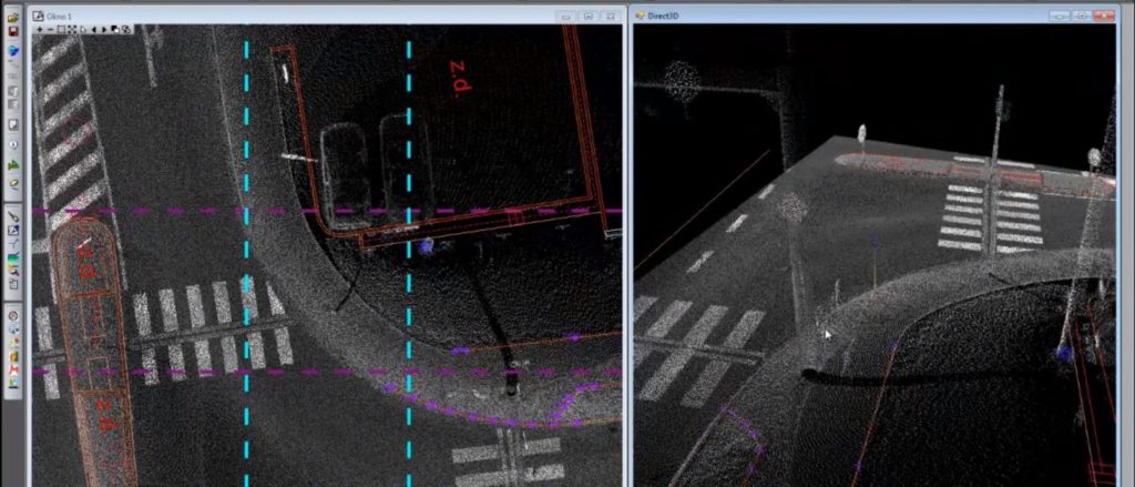Mapování a tvorba map nad mračnem bodů z laserových skenerů